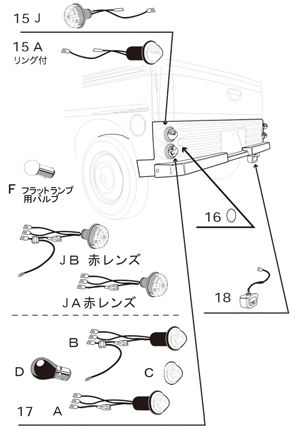 フレンチバス / シトロエン・Hバン仕様 キット <ホンダ アクティ−バン、バモス、バモスホビオ用>