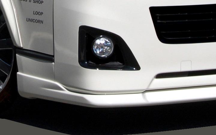 BLESS(ブレス) エアロパーツ 200系ハイエース/レジアスエース用 クールスタイルリップスポイラー(FRP黒ゲルコート)