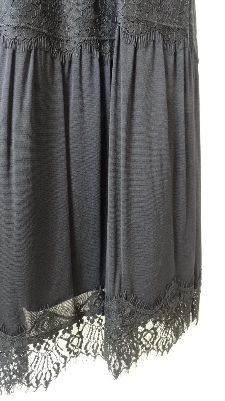 Skirt 裾レースデザイン チュール&レース使いスカート