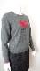 Knit 胸元ハート&リボンデザイン ロゴ入りの可愛いセーター