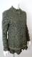 Jacket フリルデザイン 中綿キルティング×ニットドッキングのジャケット