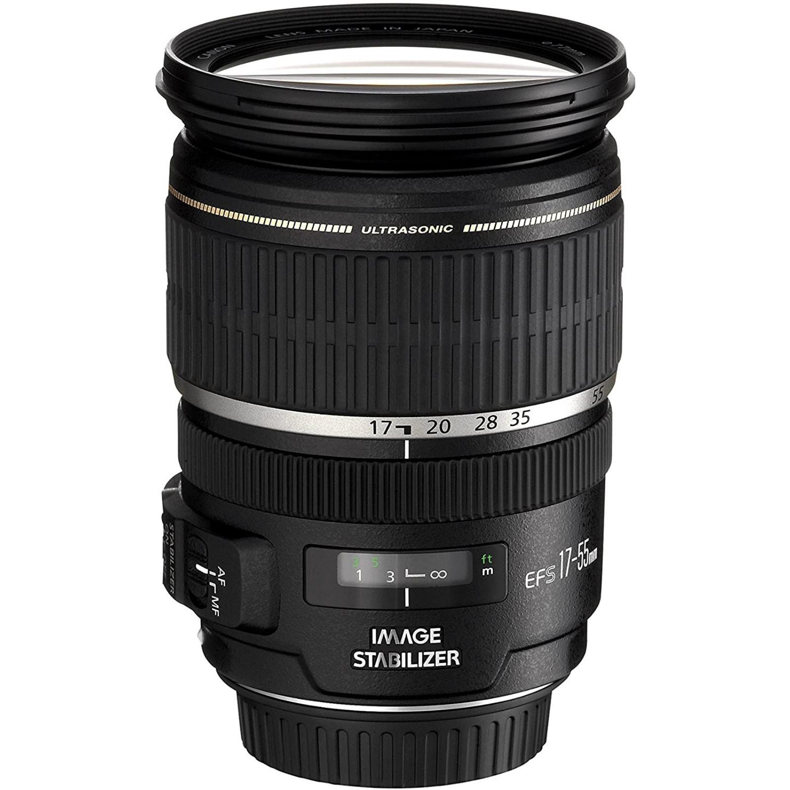 Canon キヤノン 標準ズームレンズ EF-S17-55mm F2.8 IS USM ブラック 新品 (並行輸入品、保証付き)