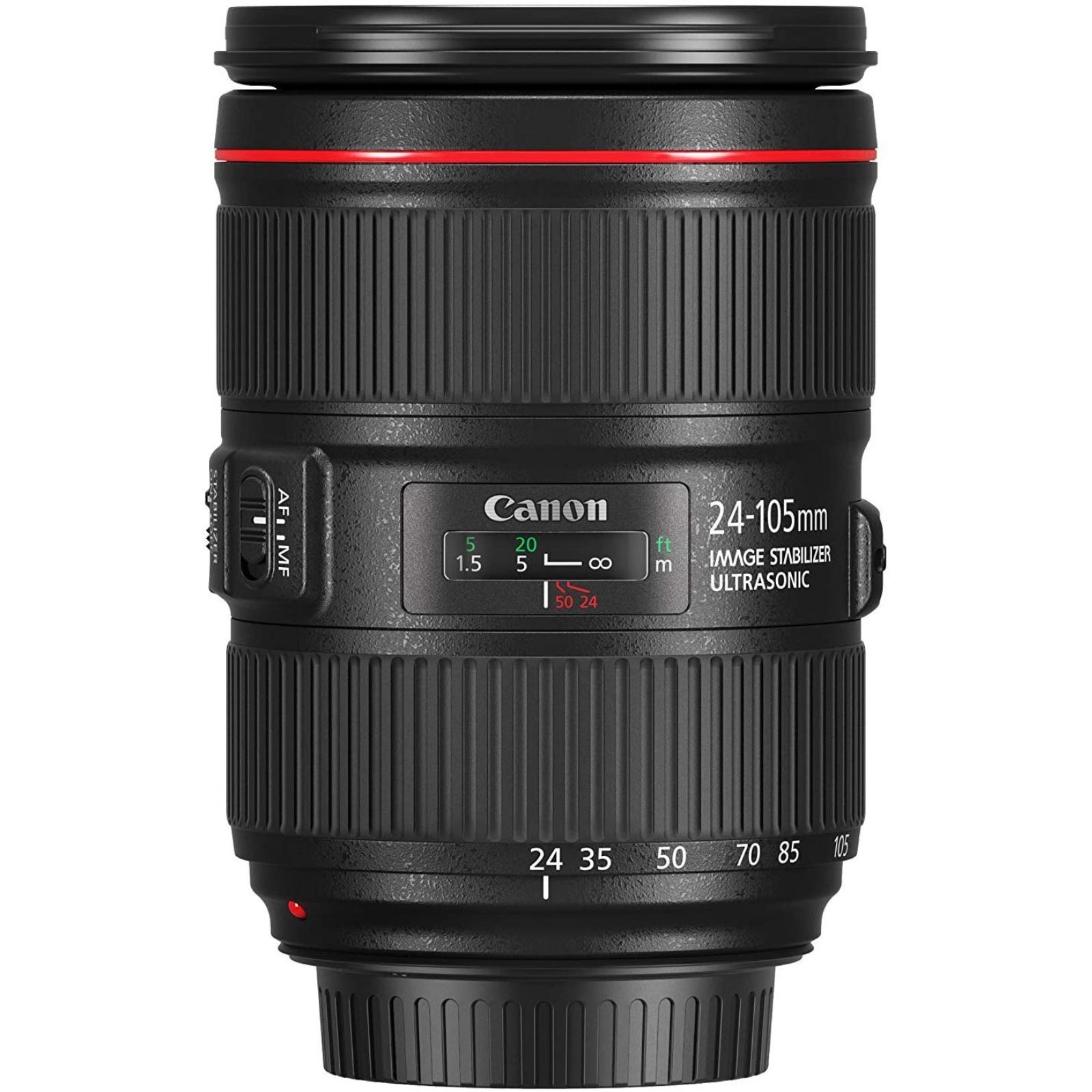 Canon キヤノン 標準ズームレンズ EF24-105mm F4L IS II USM ブラック 新品 (並行輸入品、保証付き、簡易箱)