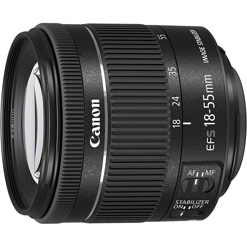 Canon キヤノン 標準ズームレンズ EF-S18-55mm F3.5-5.6 IS STM ブラック 新品 (並行輸入品、保証付き、簡易箱)