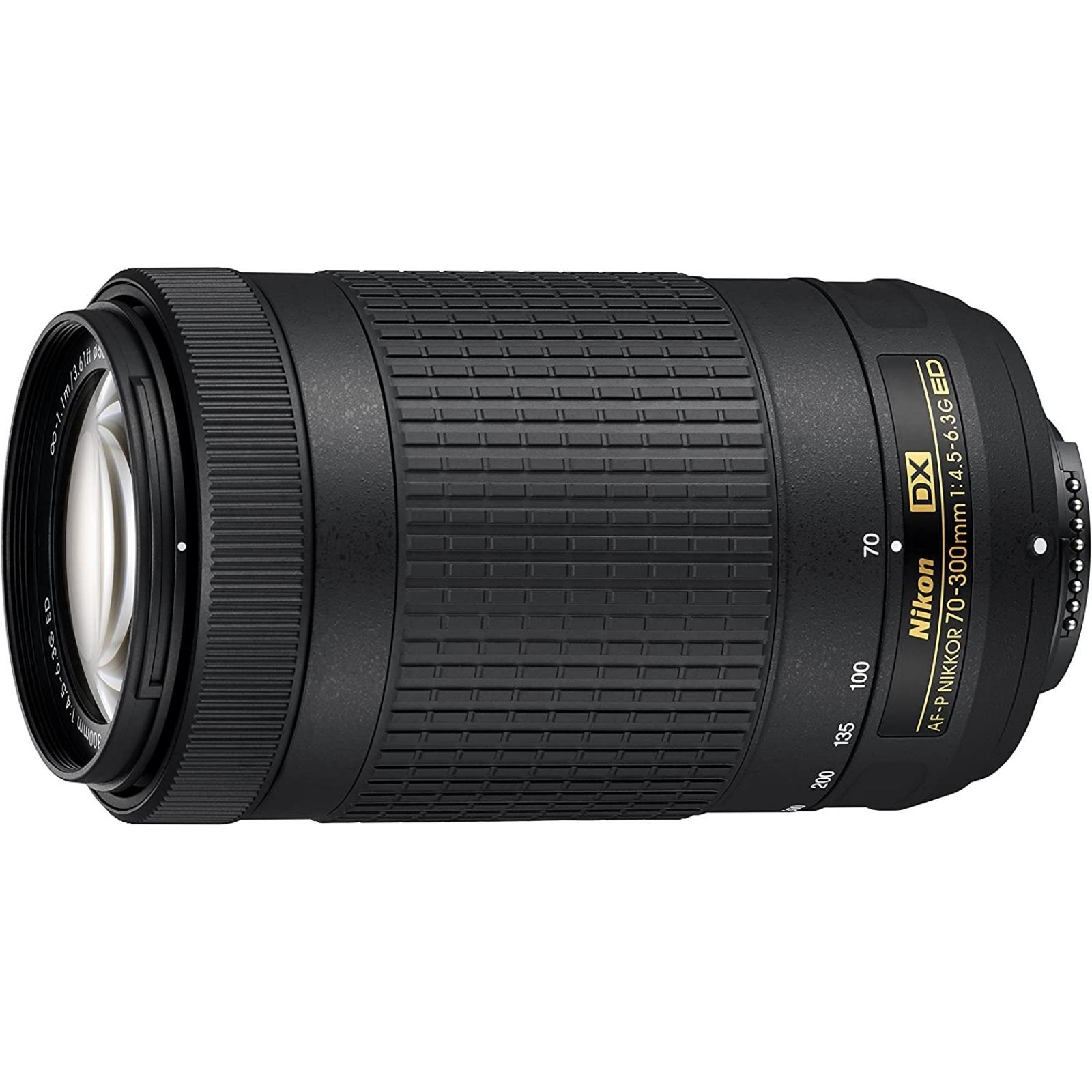 Nikon ニコン 望遠ズームレンズ AF-P DX NIKKOR 70-300mm f/4.5-6.3G ED(VRなし) ブラック 新品 (並行輸入品、保証付き)