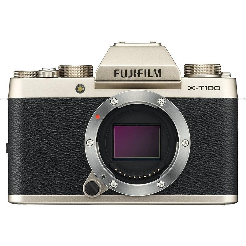 FUJIFILM 富士フィルム ミラーレス一眼カメラ X-T100 ボディ シャンパンゴールド X-T100-G 新品