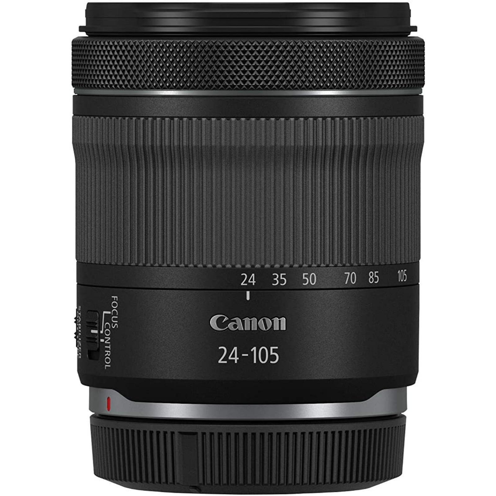 Canon キヤノン 標準ズームレンズ RF24-105mm F4-7.1 IS STM ブラック 新品 (並行輸入品、保証付き、簡易箱)