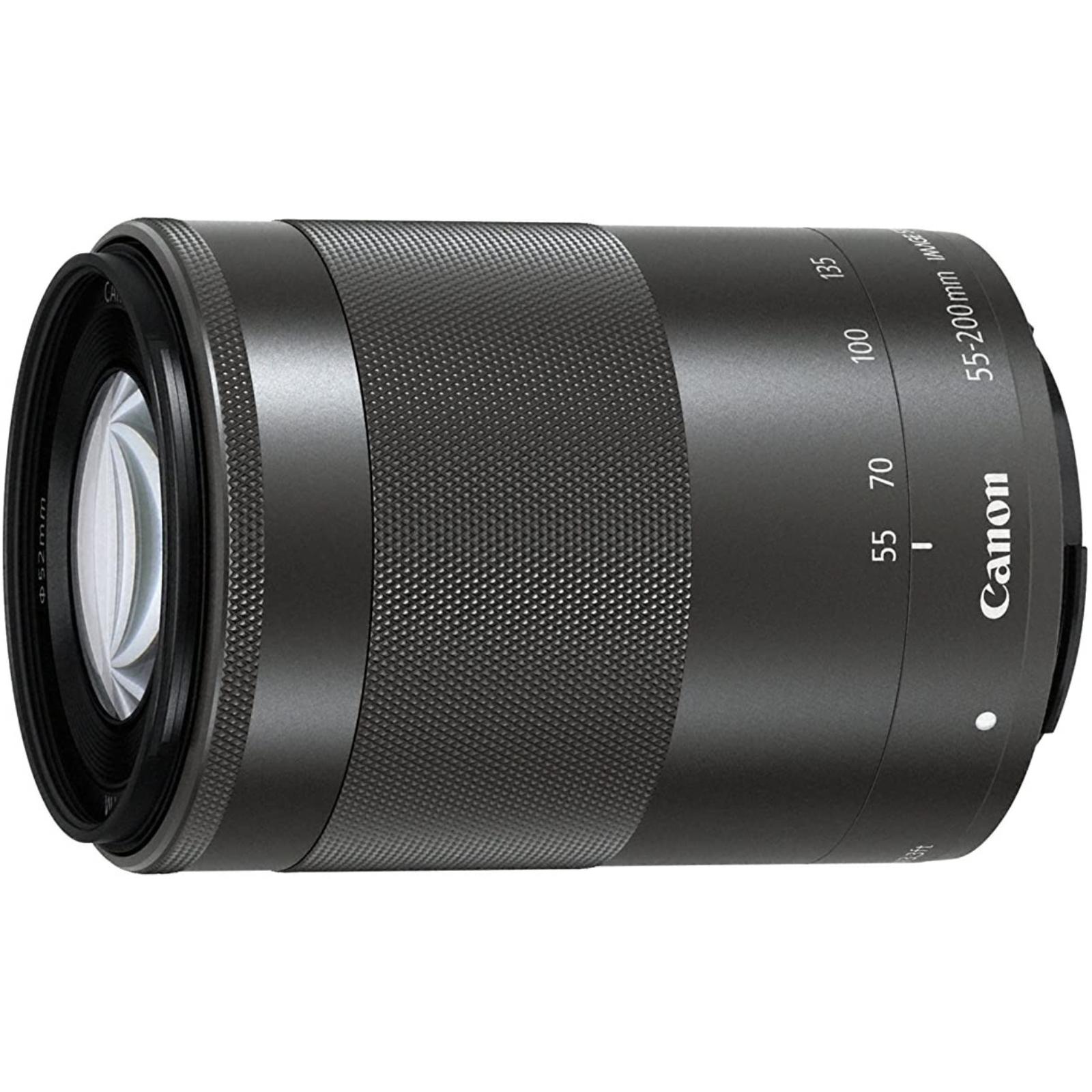 Canon キヤノン 望遠ズームレンズ EF-M55-200mm F4.5-6.3 IS STM ブラック 新品