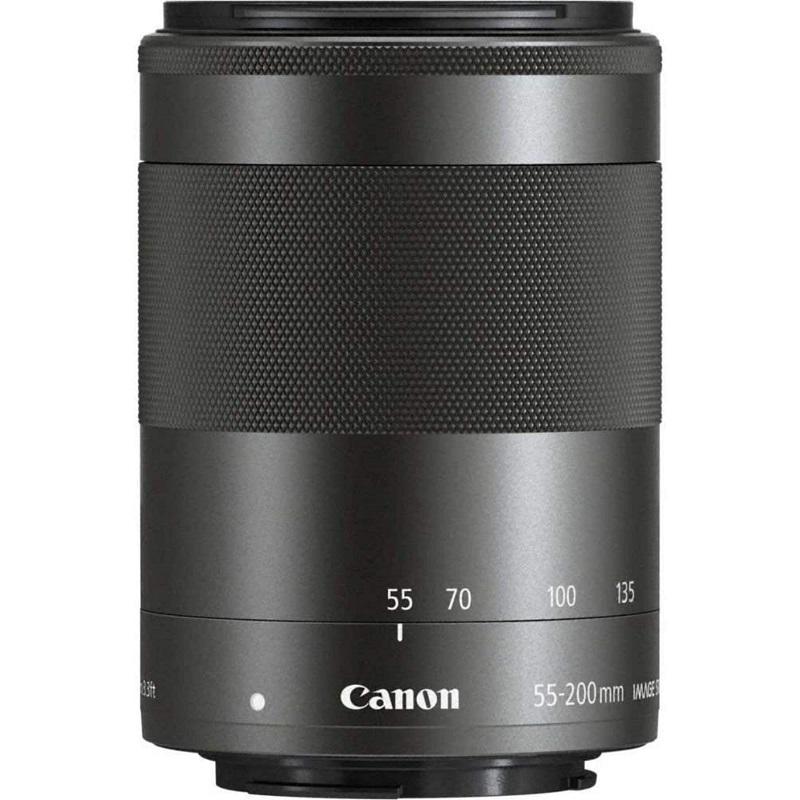 Canon キヤノン ミラーレス 望遠ズームレンズ EF-M55-200mm F4.5-6.3 IS STM ブラック 新品 (簡易箱)