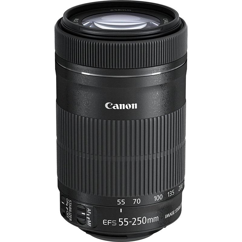 Canon キヤノン 望遠ズームレンズ EF-S55-250mm F4-5.6 IS STM APS-C対応 新品 (簡易箱)