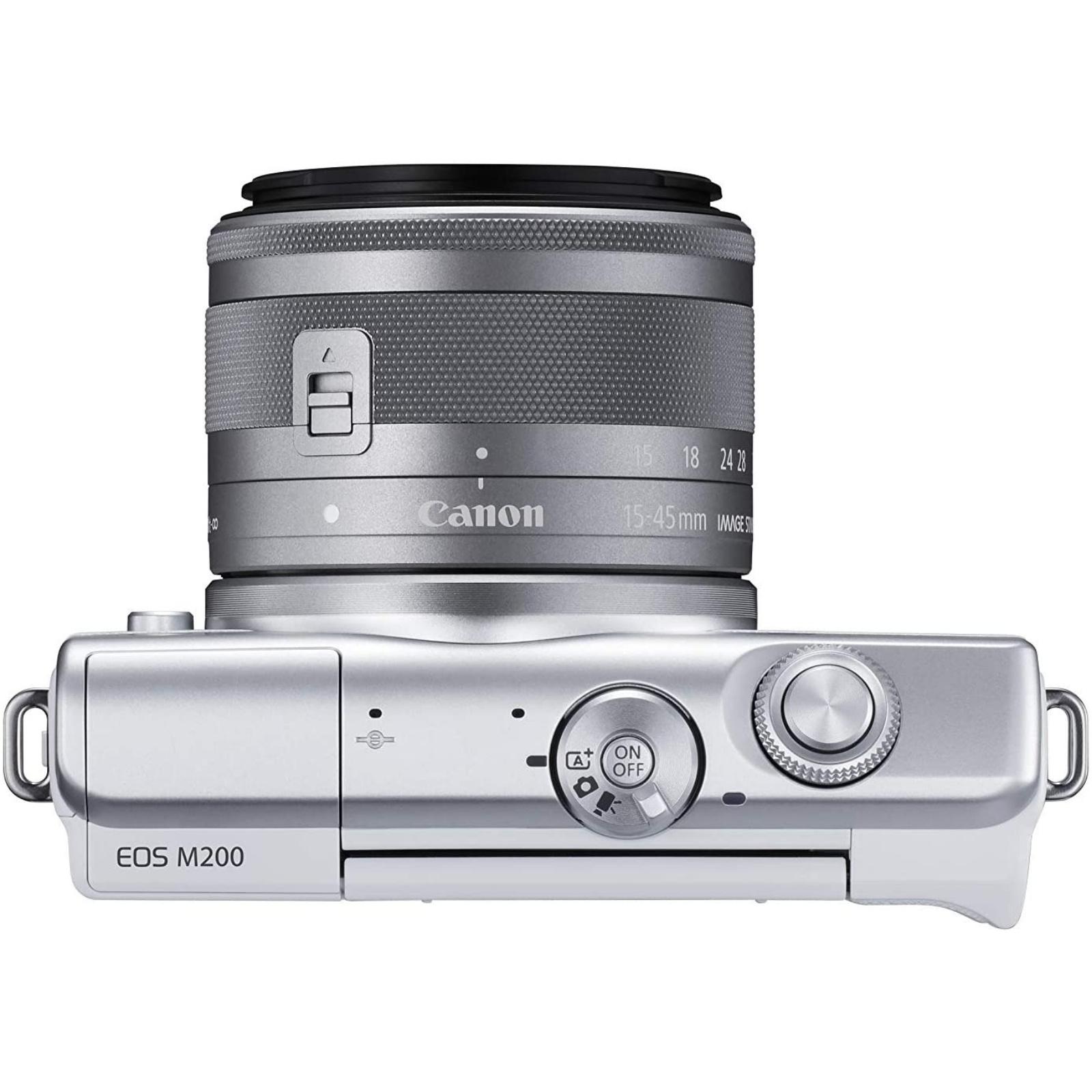 Canon キヤノン ミラーレス一眼カメラ EOS M200 EF-M15-45 IS STM レンズキット ホワイト 3700C008 新品