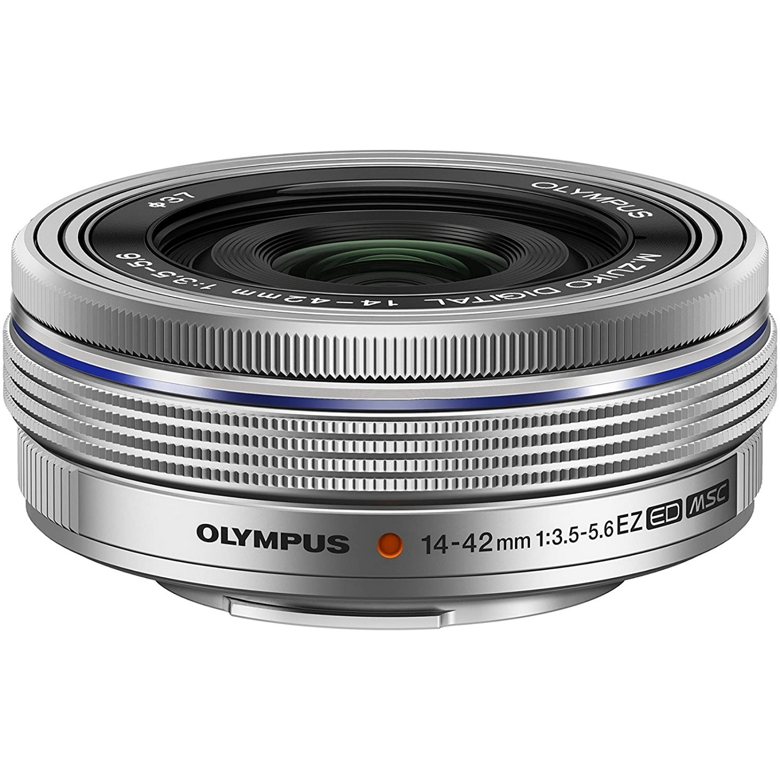 OLYMPUS オリンパス 電動式パンケーキズームレンズ M.ZUIKO DIGITAL ED 14-42mm F3.5-5.6 EZ シルバー 新品 (簡易箱)
