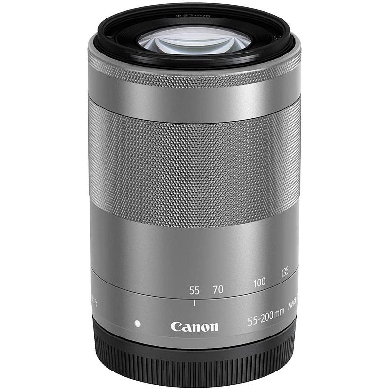 Canon キヤノン ミラーレス 望遠ズームレンズ EF-M55-200mm F4.5-6.3 IS STM シルバー 新品 (簡易箱)