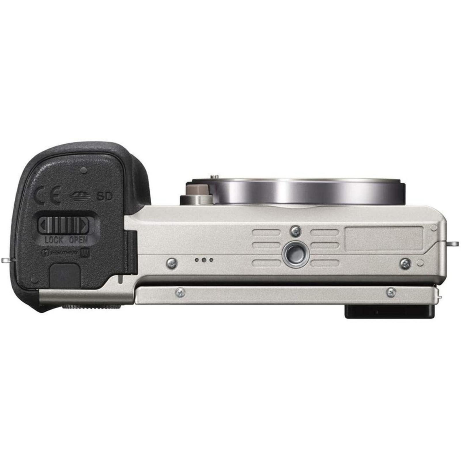 SONY ソニー ミラーレス一眼カメラ α6000 パワーズームレンズキット シルバー ILCE-6000L-S 新品