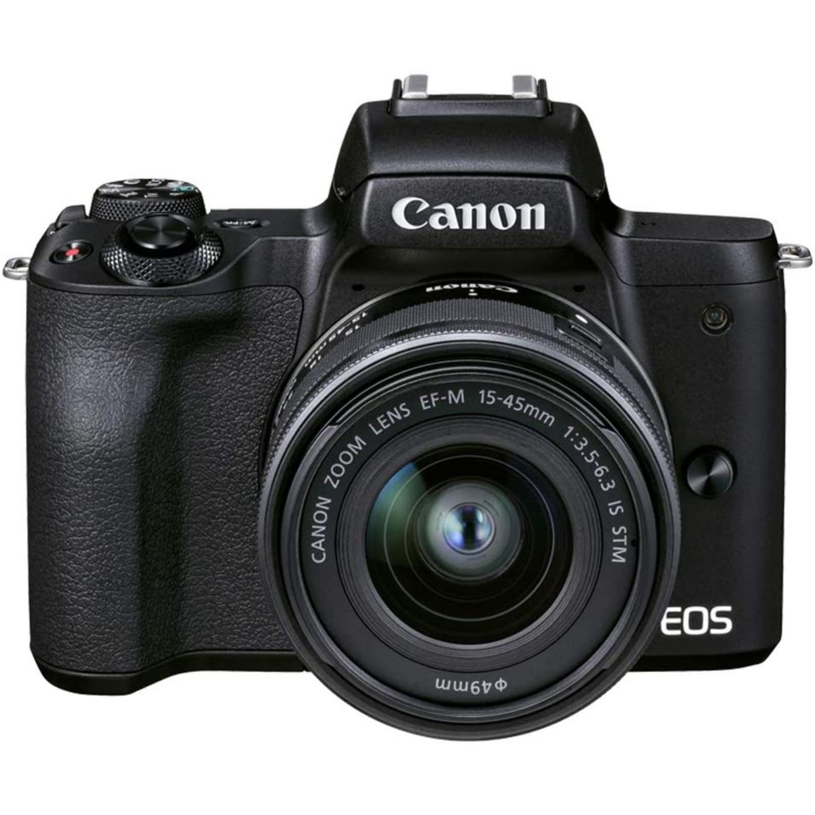 Canon キヤノン ミラーレス一眼カメラ EOS Kiss M2 EF-M15-45 IS STM レンズキット ブラック 新品