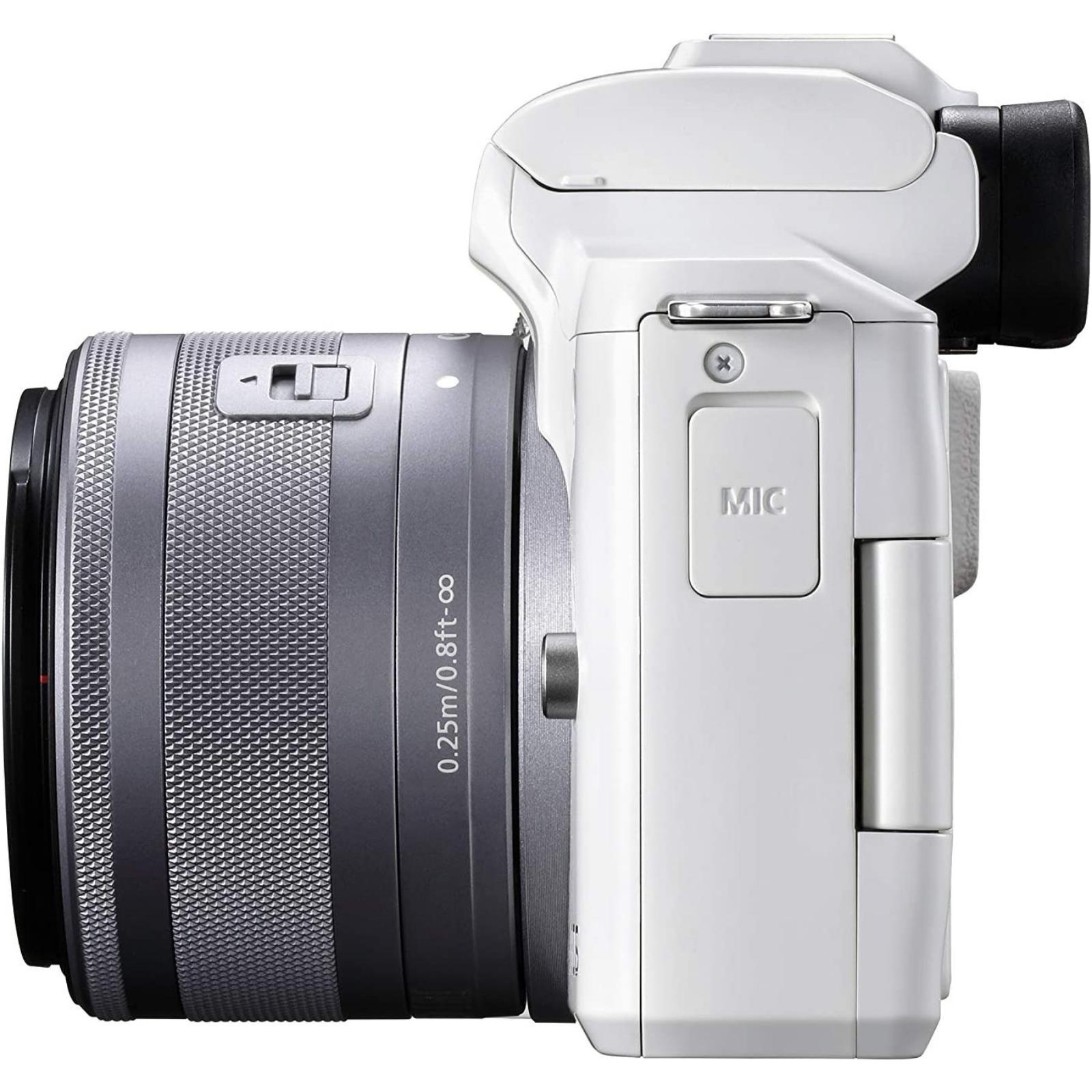 Canon キヤノン ミラーレス一眼カメラ EOS Kiss M2 EF-M15-45 IS STM レンズキット ホワイト 新品