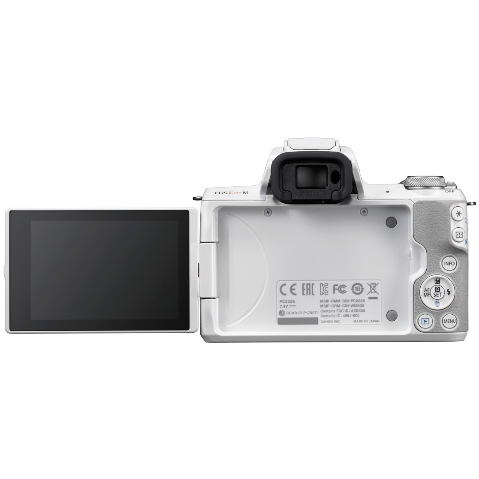Canon キヤノン ミラーレス一眼カメラ EOS Kiss M ボディ ホワイト 新品