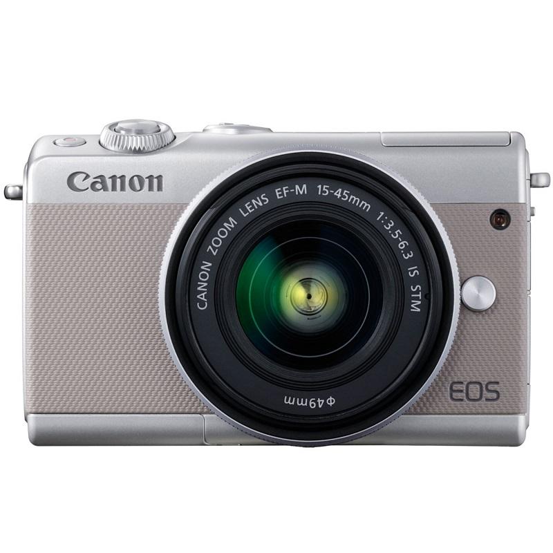 Canon キヤノン ミラーレス一眼カメラ EOS M100 EF-M15-45 IS STM レンズキット グレー 新品
