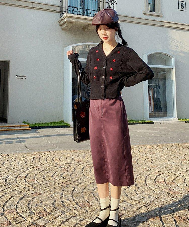 【即納】スリムレトロナロースカート