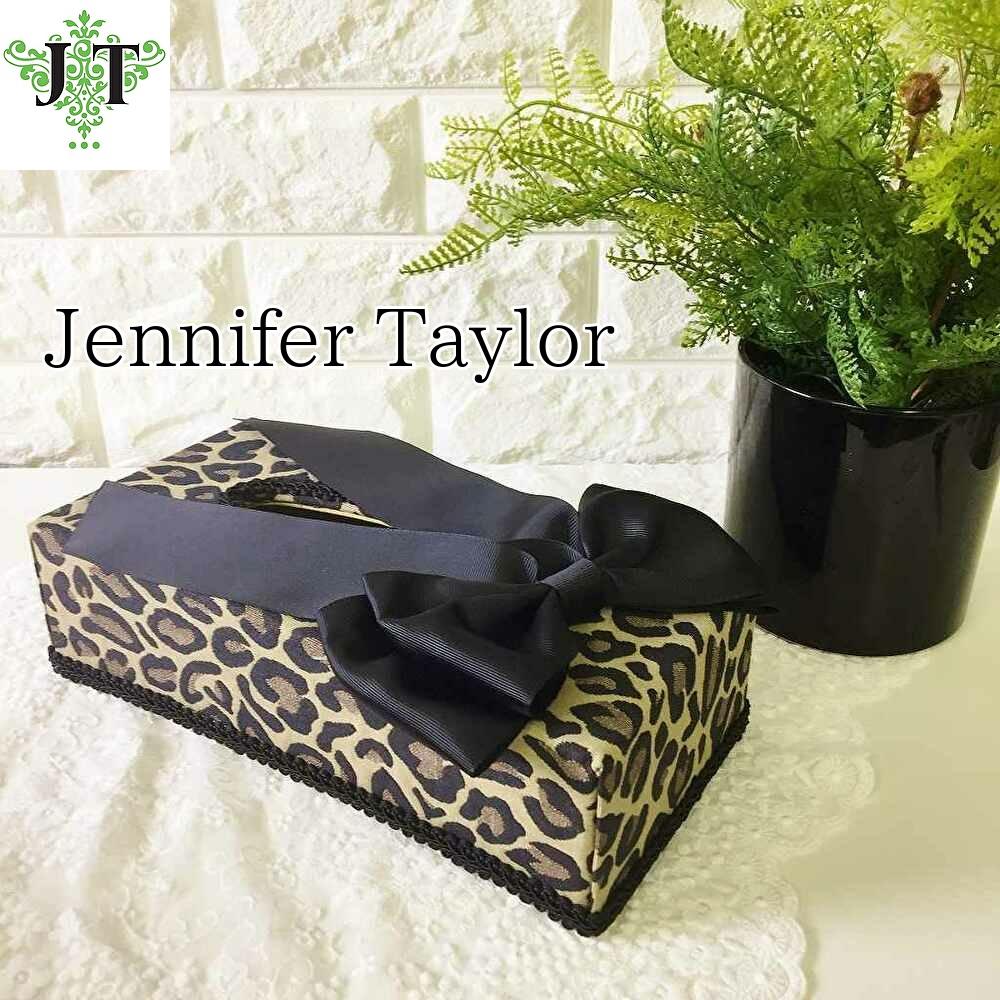 ジェニファーテイラー Jennifer Taylor ティッシュBOX リボン Espresso(エスプレッソ)