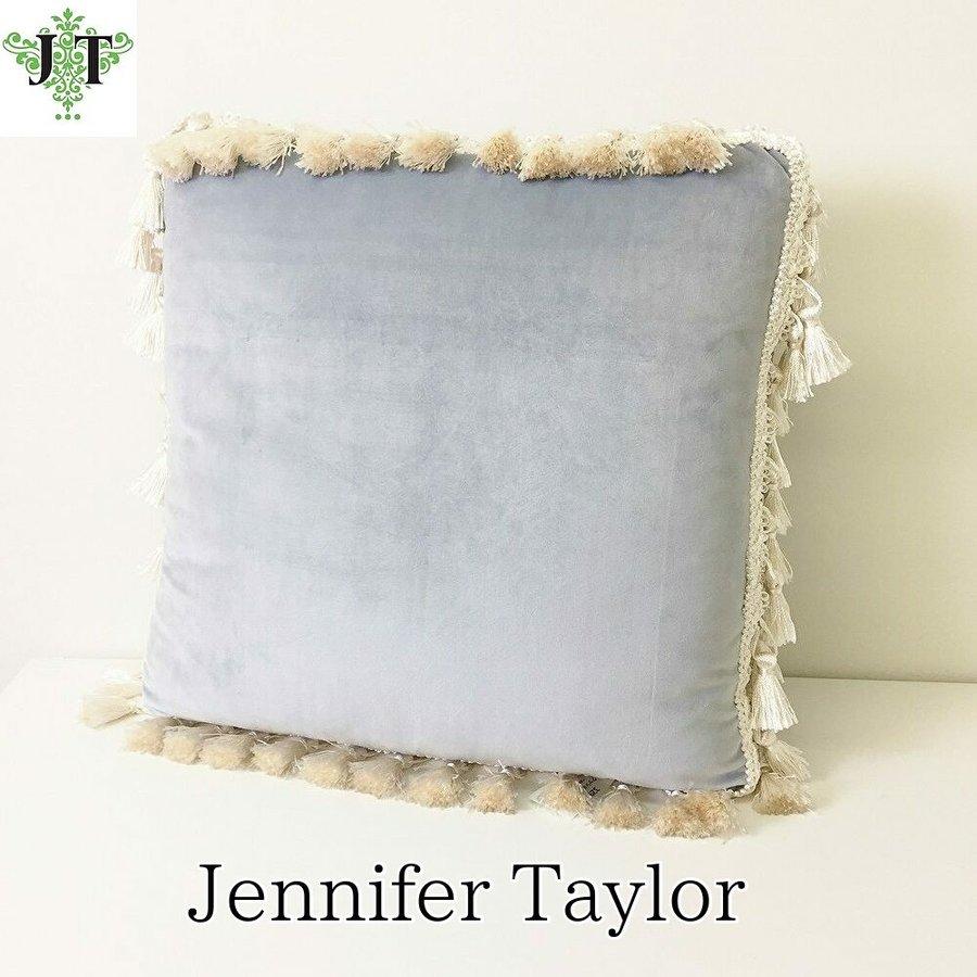 ジェニファーテイラー Jennifer Taylor クッション Velours-NLB(ベロアニューライトブルー)