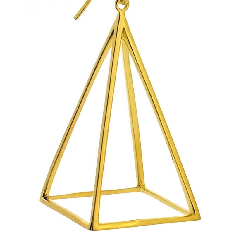 【ルーカス】24金・ピラミッド型三角ピアス