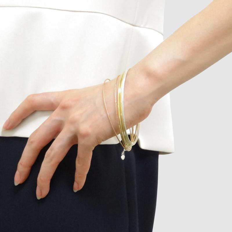 【LA発】ゴールド・ピンクゴールド・シルバー7本ブレス