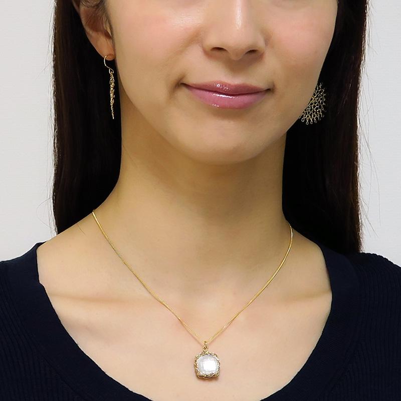 【ヨーラ】14金・フラワーピアス(25mm)