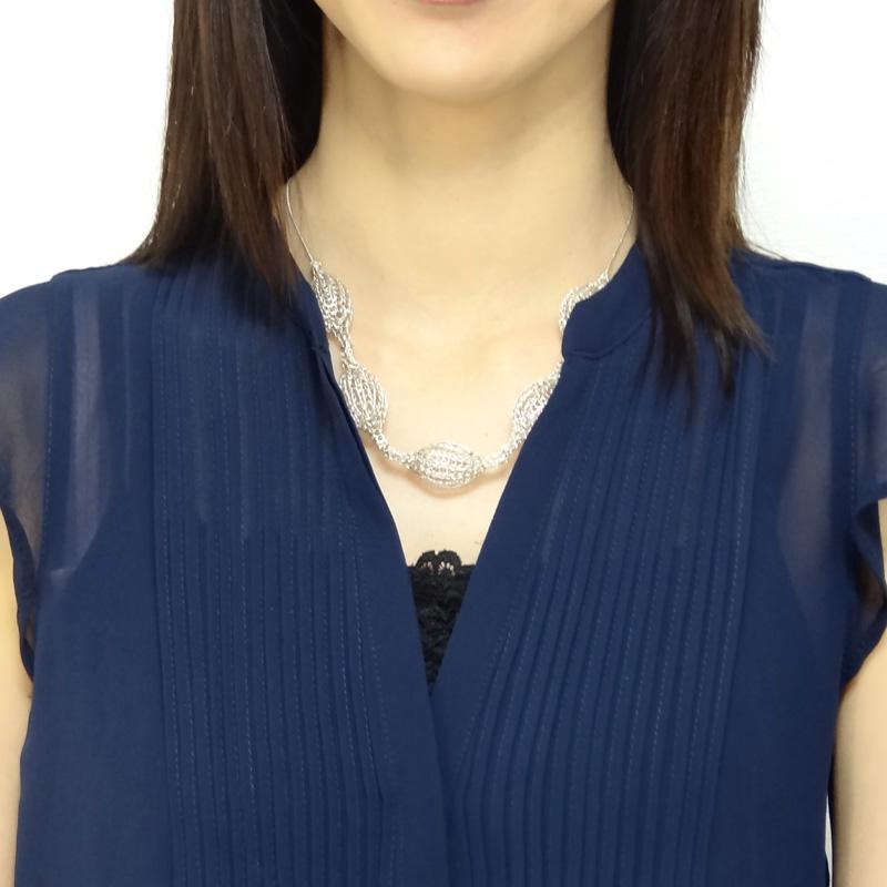 【ヨーラ】5粒ショートネックレス(シルバー)