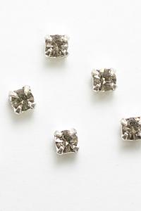 TS-18-3 ネイルパーツ 爪とめラインストーン BKダイヤ(M)【日本製,レジン】