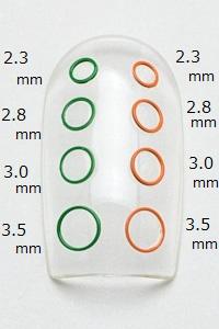 LP-0097 ネイルパーツ Nail Parts フラットリング3.0mm 【日本製,レジンパーツ,メタルパーツ,丸,マル,まる】