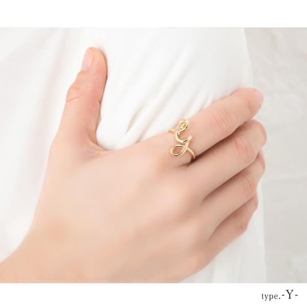 イニシャル リング 指輪