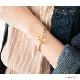 ブレスレット バングル ハート ワンタッチ メタル ゴールド シルバー 金 銀 重ね着け 重ね付け 重ねづけ シンプル デイリー カジュアル トレンドギフト プレゼント 女性 レディース 30代 40代 50代 ジュエルボックス jewelvox