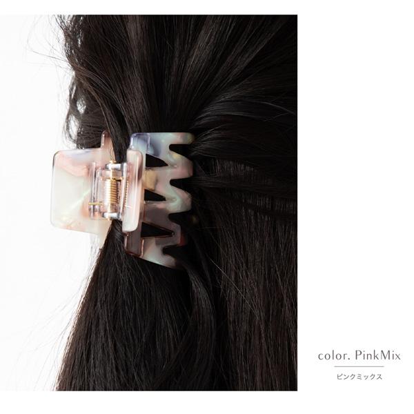 シェル風デザインヘアクリップ