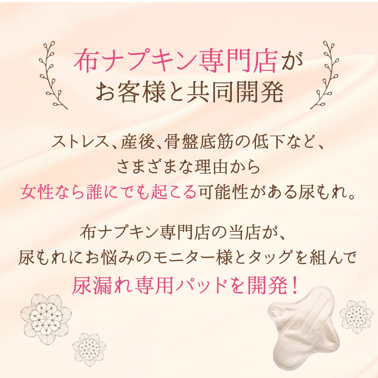 布ナプキン 消臭軽失禁パッド 3枚セット [ 水分ケア用 / 軽い尿もれ / 15cc対応 / 21.5cm ] 肌面シルク100% / ブリーズブロンズ/消臭タグ付き (日本製)メール便送料無料