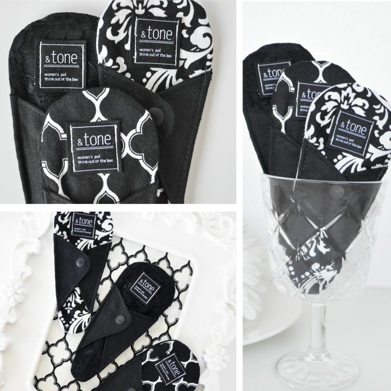 &tone 布ナプキン Tバックおりものライナー ブラックシリーズ 1枚 [おりもの用 / 19cm / シルク&コットン/オーガニックコットン/リネン] 麻わた (日本製) JEWLINGE