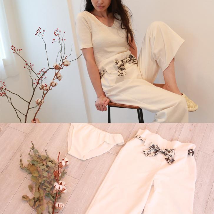 片面起毛 フランネル100% ロングパンツ 日本製 | ルームウェア パジャマ ナイトウェア ジュランジェ