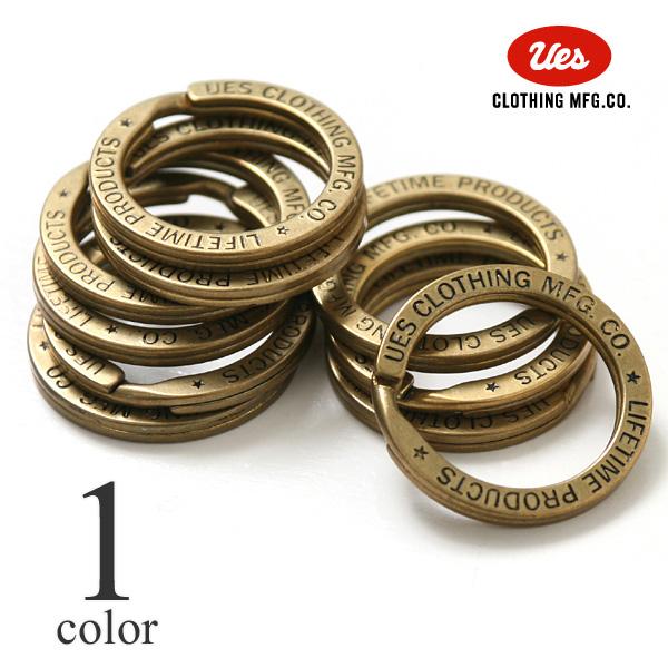 ウエス UES 真鍮リング キーリング 二重リング ダブルリング 89-DR