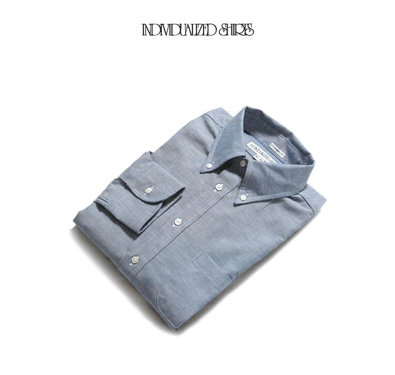 INDIVIDUALIZED SHIRTS インディビジュアライズドシャツ スタンダードフィット ヘリテージシャンブレー BDシャツ J81BCO-K