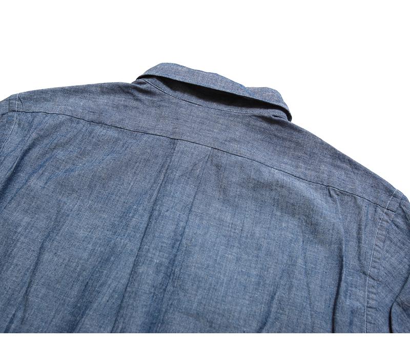 マニュアルアルファベット MANUAL ALPHABET レアトレア別注 シャンブレー ボタンダウンシャツ バンドカラーシャツ Bulging Fit バルジングフィット LR-BG-001
