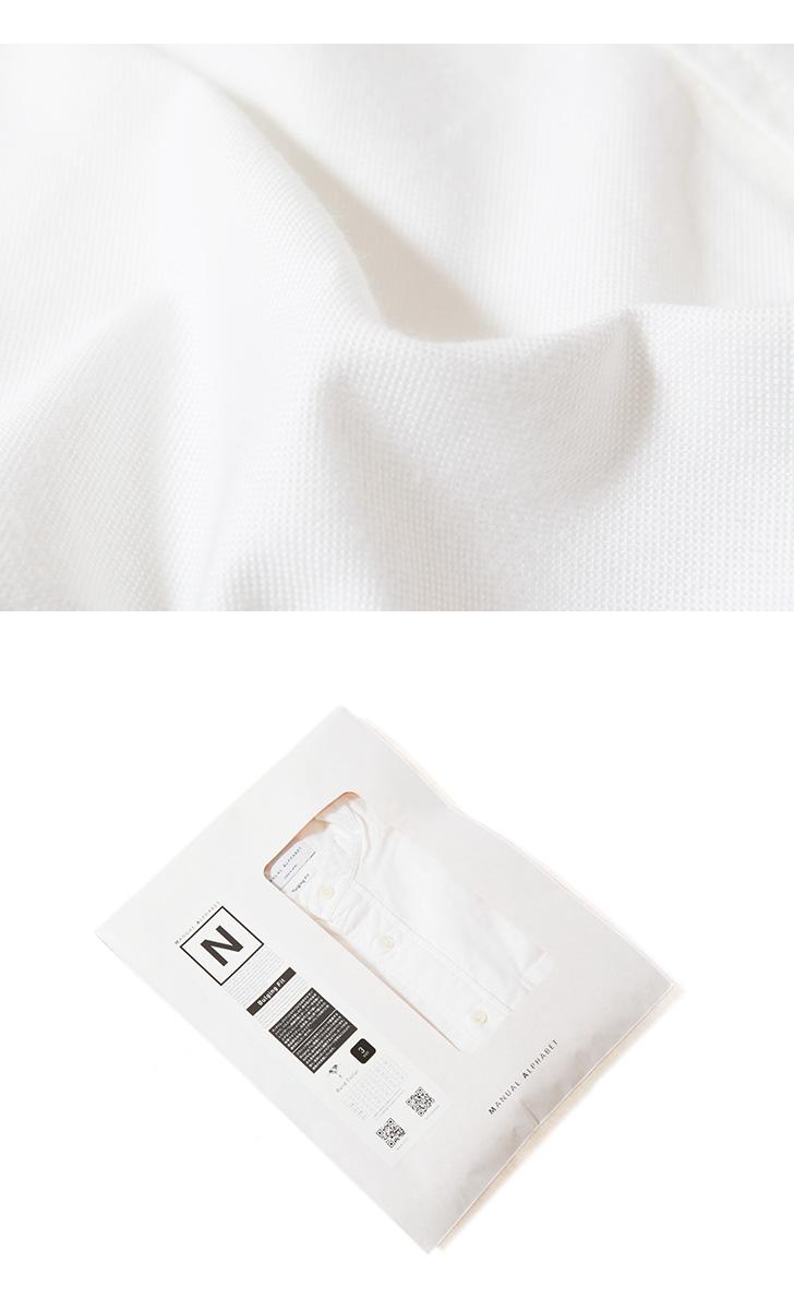 マニュアルアルファベット MANUAL ALPHABET プレミアムオックスバンドカラーシャツ Bulging Fit バルジングフィット BASIC-BG-014