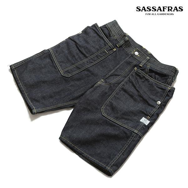 SASSAFRAS ササフラス Fall Leaf Pants 1/2(ショーツ) デニムショーツ SF-201638
