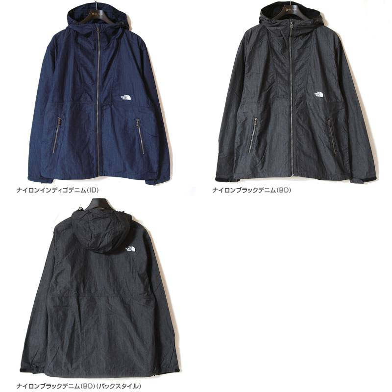 ノースフェイス ナイロンデニムコンパクトジャケット THE NORTH FACE Nylon Denim Compact Jacket NP22136