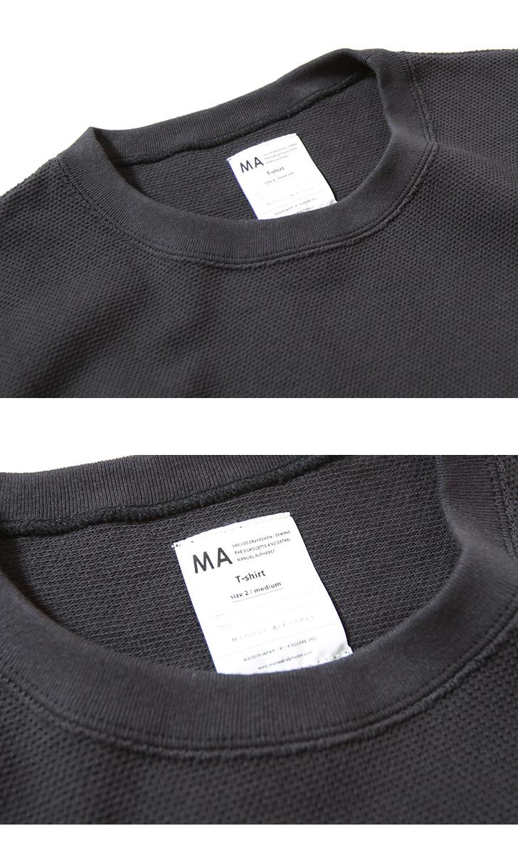 マニュアルアルファベット 鹿の子Tシャツ MANUAL ALPHABET KANOKO TEE MA-C-125