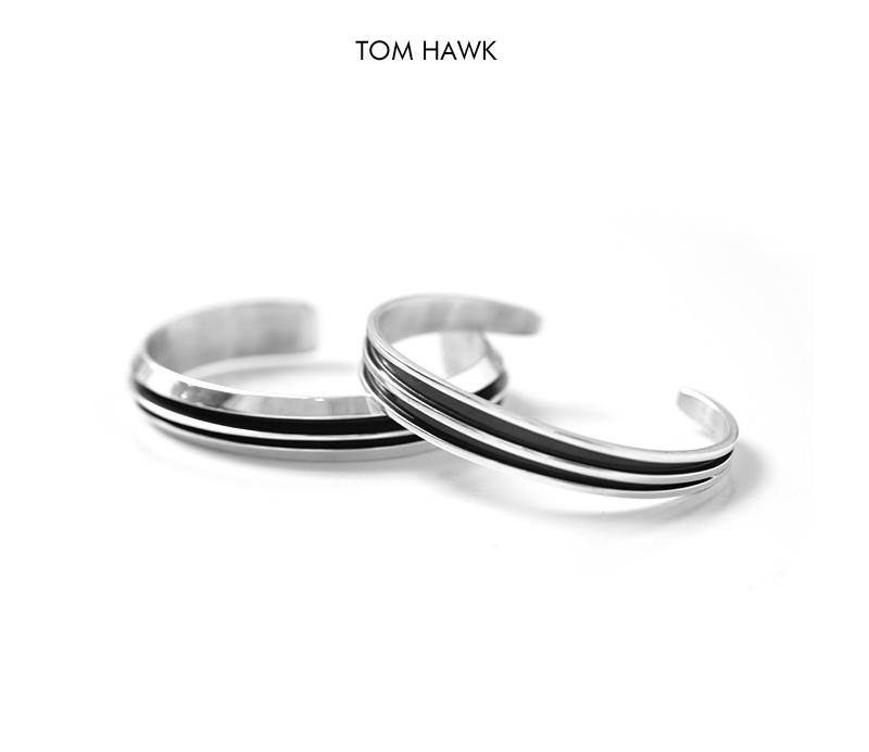 TOM HAWK トムホーク ナバホ 2ライン バングル ナロー インディアンジュエリー