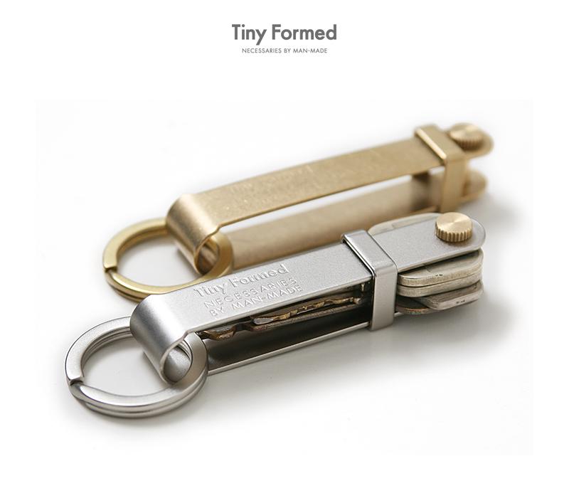 タイニーフォームド Tiny Formed タイニーメタルキーフリック Tiny metal key flick TM-08S TM-08B シルバー ブラス  真鍮 キーリング キーホルダー 【クーポン対象外】
