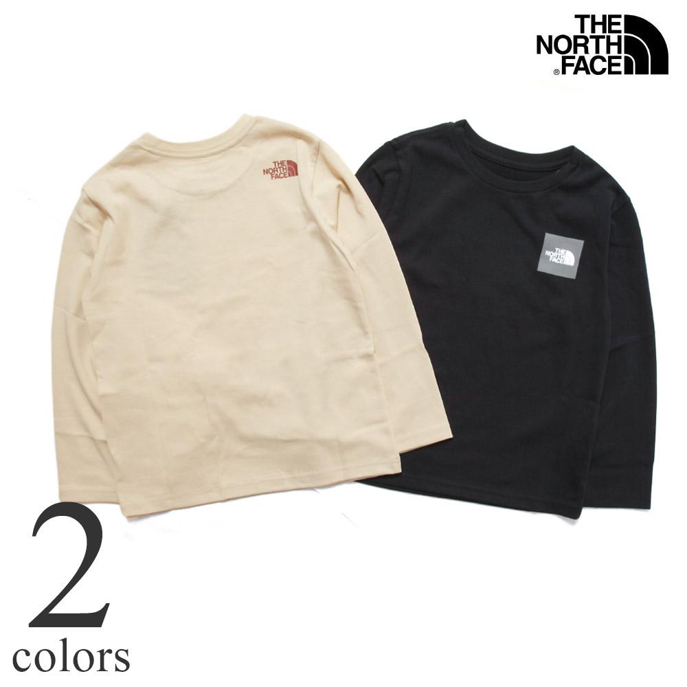 ノースフェイス ロングスリーブスモールスクエアロゴティー キッズ THE NORTH FACE L/S Small Square Logo Tee NTJ82119 子供服