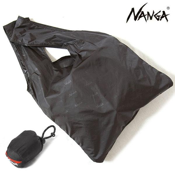 NANGA ナンガ POCKETABLE ECOBAG ポケッタブルエコバッグ Emboss エンボスブラック N1EZBK92