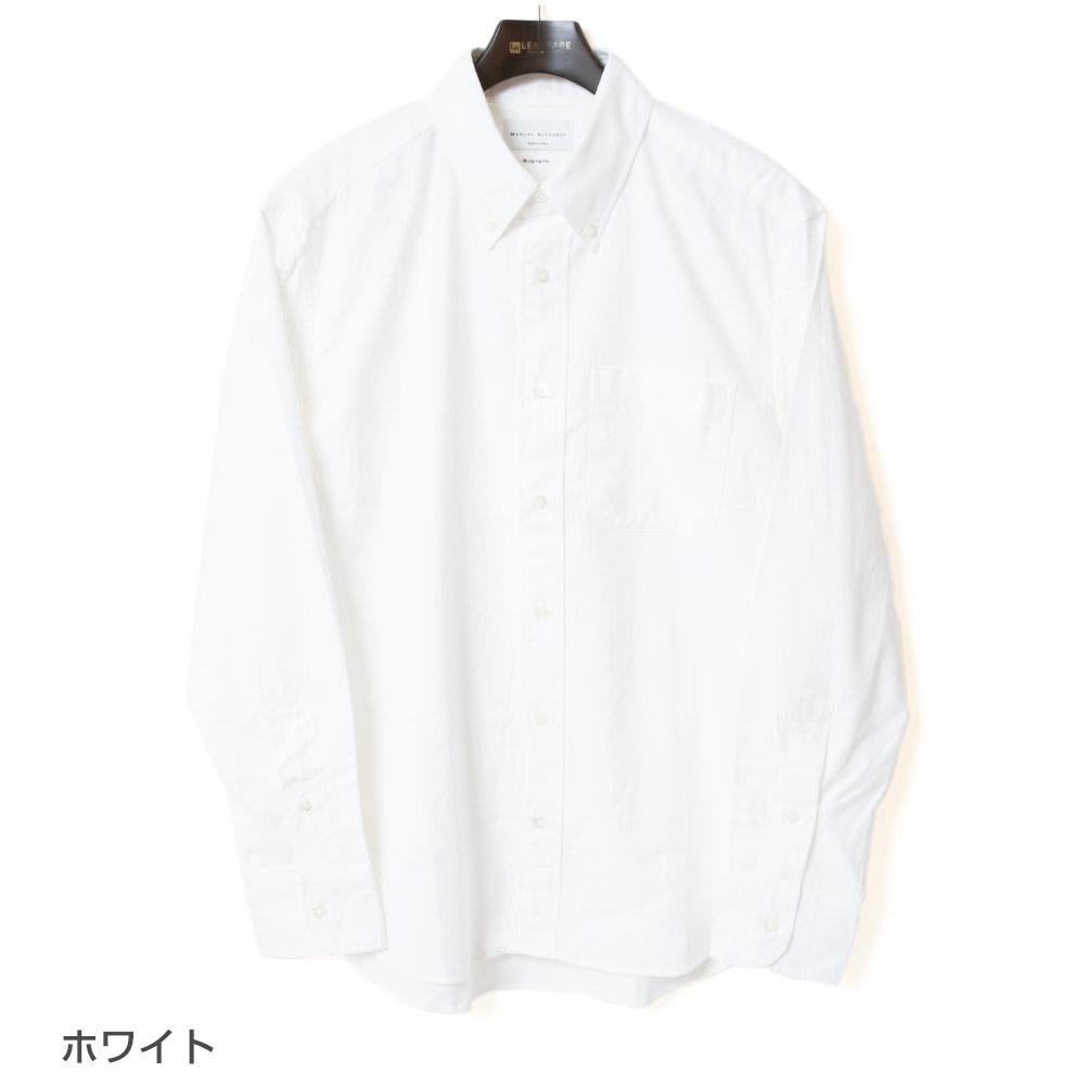 マニュアルアルファベット MANUAL ALPHABET スーピマオックスBDシャツ Bulging Fit バルジングフィット BASIC-BG-001