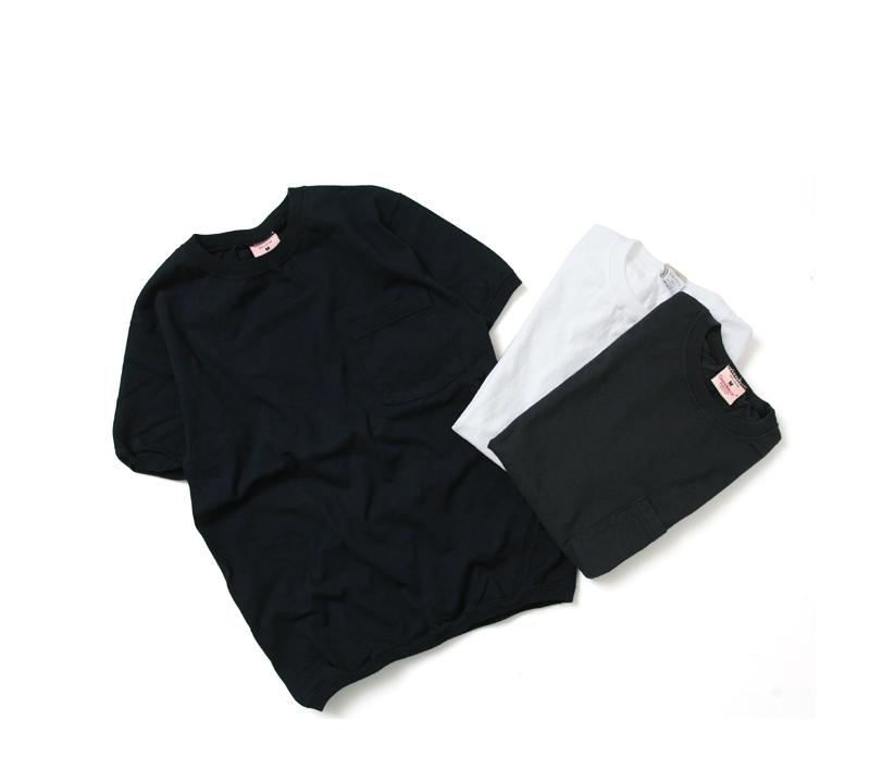 グッドウェア GOODWEAR CREW-NECK S/S T-SHIRTS WITH CUFF AND HEM RIB クルーネックリブ付きポケットTシャツ NGT9801P 【ユニセックス】